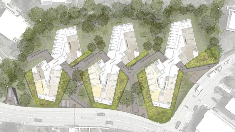 1. Preis im Wettbewerb «Wohnüberbauung Trichtenhausenstrasse» in Zürich-Witikon mit burkhalter sumi architekten, Zürich