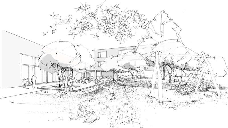 2. Rang im Wettbewerb «Primarschule Waldkirch – Sanierung und Erweiterung Schulhaus Breite» mit team4 Architekten, Zürich
