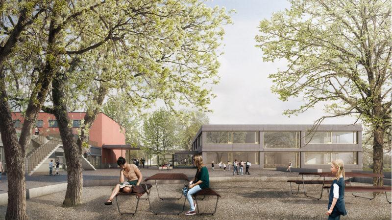 1. Preis beim Studienauftrag «Erweiterung Schulhaus Oberdorf, Oensingen» mit englerarchitekten, Basel
