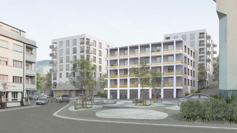1. Preis im Wettbewerb «Überbauung bfw Areal, Stadt Rorschach» mit JOM Architekten GmbH, Zürich